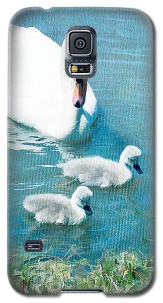 Family Of Swans At The Market Common Galaxy S5 Case by Vizual Studio
