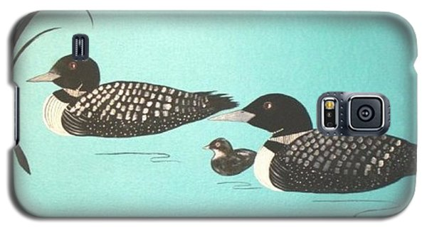 Galaxy S5 Case featuring the painting Family Of Three by Cindy Micklos