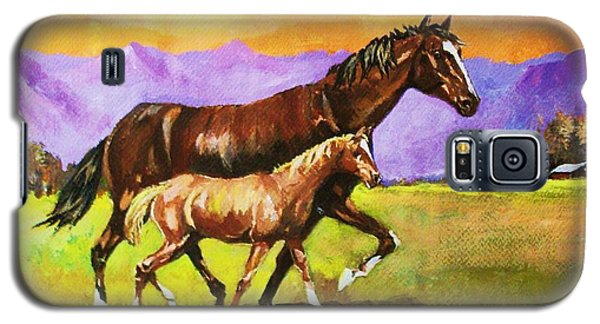 Galaxy S5 Case featuring the painting Family Stroll by Al Brown