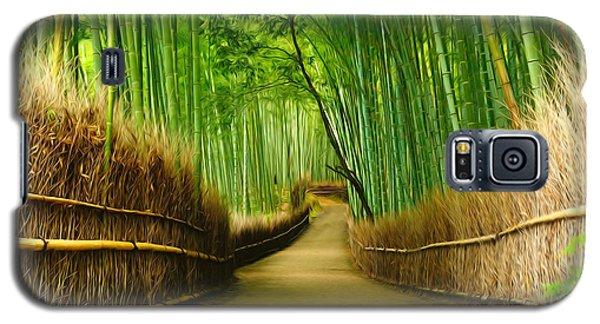 Famous Bamboo Grove At Arashiyama Galaxy S5 Case