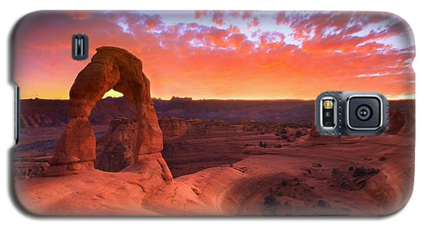 Mountain Galaxy S5 Case - Famous Sunset by Kadek Susanto