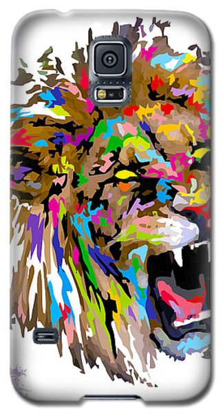 Galaxy S5 Case featuring the painting Fangs by Anthony Mwangi