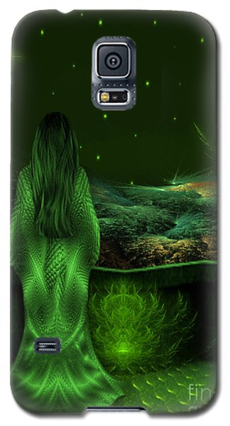 Fantasy Art - Wishing Upon A Star In A Green Night  By Rgiada  Galaxy S5 Case by Giada Rossi