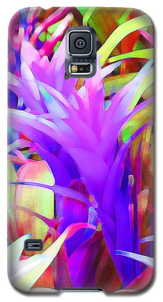 Galaxy S5 Case featuring the photograph Fantasy Bromeliad Abstract by Margaret Saheed