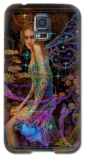 Galaxy S5 Case featuring the painting Fantasy Fairy Princess-angel Tarot Card by Steve Roberts