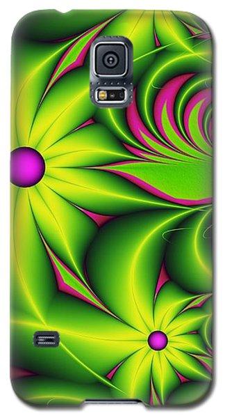Galaxy S5 Case featuring the digital art Fantasy Flowers by Gabiw Art