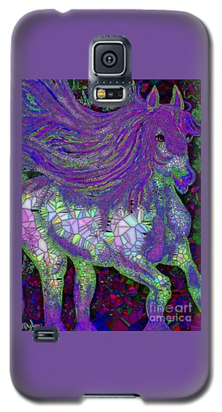 Fantasy Horse Purple Mosaic Galaxy S5 Case