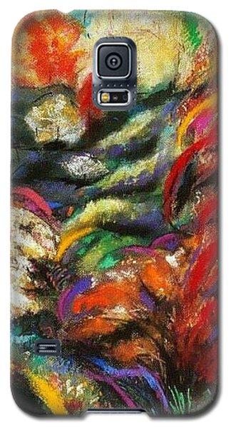 Galaxy S5 Case featuring the pastel Fantasy Landscape by Jodie Marie Anne Richardson Traugott          aka jm-ART