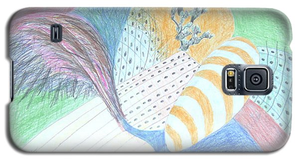 Galaxy S5 Case featuring the drawing Fantasy Of Egg And Cactus by Esther Newman-Cohen