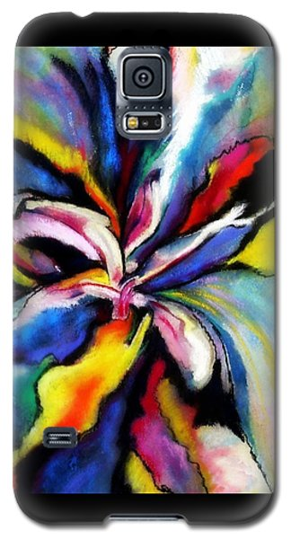 Galaxy S5 Case featuring the painting Fantasy Orchid by Jodie Marie Anne Richardson Traugott          aka jm-ART