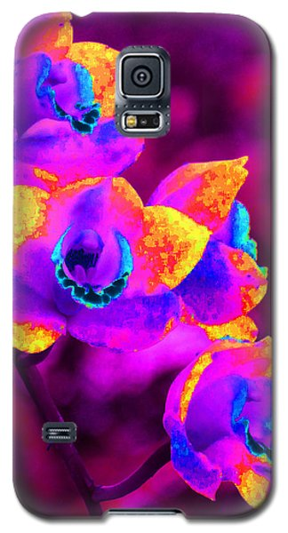 Galaxy S5 Case featuring the photograph Fantasy Orchids by Margaret Saheed