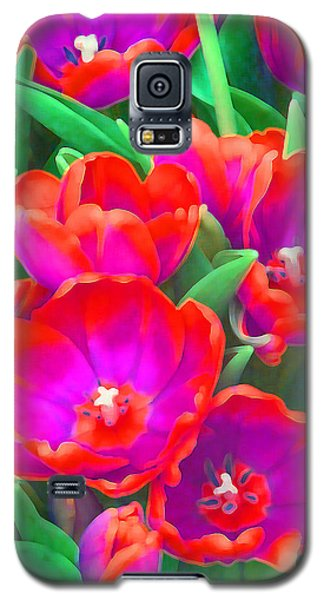 Galaxy S5 Case featuring the photograph Fantasy Tulip Abstract by Margaret Saheed
