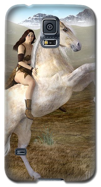 Fantasy Woman On Rearing Horse Galaxy S5 Case