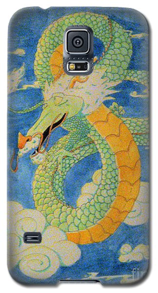 Galaxy S5 Case featuring the painting Far East Wind Rider by Wendy Coulson