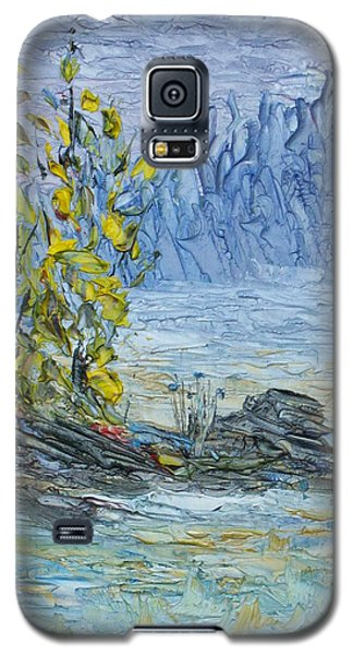 Galaxy S5 Case featuring the painting Far Off Woodland Lough Hyne. by Conor Murphy