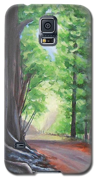 Galaxy S5 Case featuring the painting Faraway by Jane  See