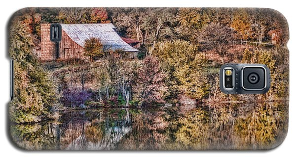 Galaxy S5 Case featuring the photograph Farm All Nestled In by Mary Timman