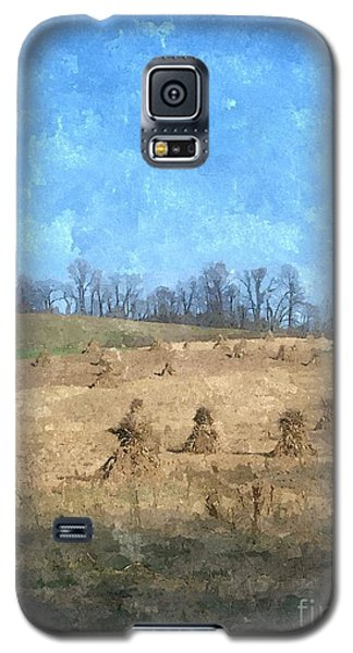 Galaxy S5 Case featuring the painting Farm Days 2 by Sara  Raber