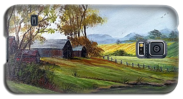 Galaxy S5 Case featuring the painting Farm by Dorothy Maier