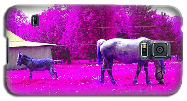 Galaxy S5 Case featuring the photograph Farm Friends - Animals by Susan Carella