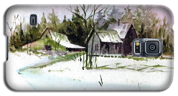 Farm House In The Snow Galaxy S5 Case