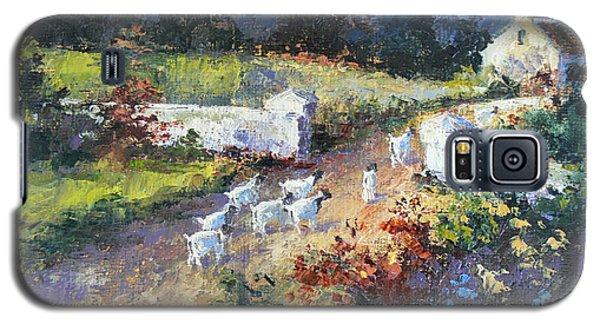 Farm Scene With Goats I Galaxy S5 Case