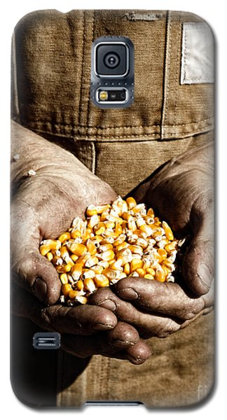 Farmer's Hands With Seed Corn Galaxy S5 Case