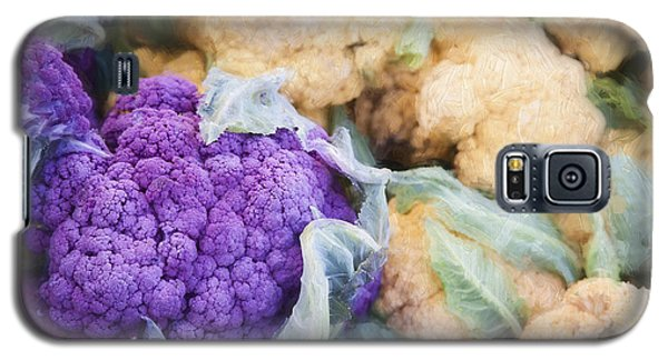 Farmers Market Purple Cauliflower Galaxy S5 Case by Carol Leigh