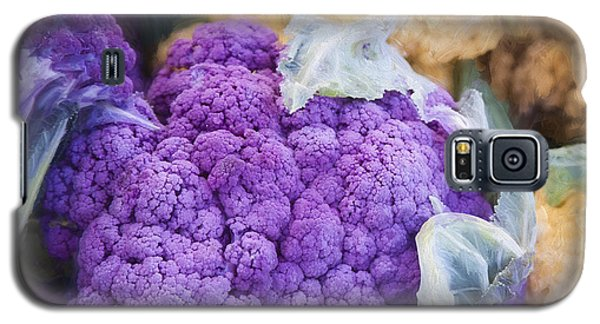 Farmers Market Purple Cauliflower Square Galaxy S5 Case by Carol Leigh