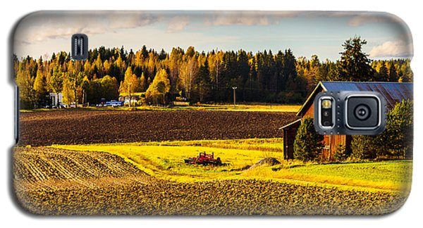 Farmer's Sunny Autumn Day Galaxy S5 Case