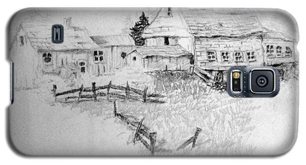 Farmhouse And Barn Galaxy S5 Case by Joseph Hawkins