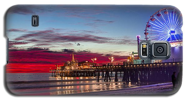 Ferris Wheel On The Santa Monica California Pier At Sunset Fine Art Photography Print Galaxy S5 Case