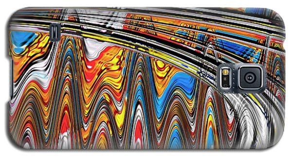 Galaxy S5 Case featuring the digital art Highway To Nowhere Abstract by Gabriella Weninger - David