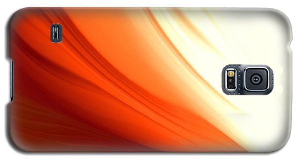 Galaxy S5 Case featuring the digital art Glowing Orange Abstract by Gabriella Weninger - David