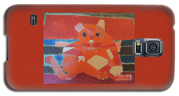 Fat Cat On A Hot Chaise Lounge Galaxy S5 Case
