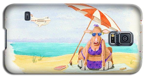 Fat Cow On A Beach 1 Galaxy S5 Case