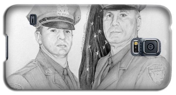Galaxy S5 Case featuring the drawing Father And Son by Lori Ippolito