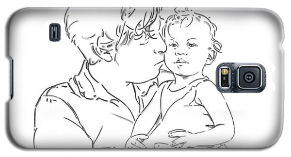 Galaxy S5 Case featuring the drawing Father And Son by Olimpia - Hinamatsuri Barbu