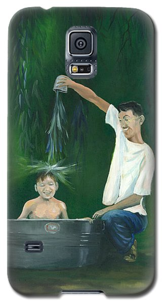 Galaxy S5 Case featuring the painting Fatherly Fun by Dan Redmon