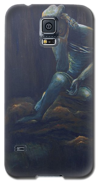 Galaxy S5 Case featuring the painting Fatigue by Itzhak Richter