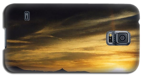 Galaxy S5 Case featuring the photograph Faux Lordsburg New Mexico Sunset 2 by Margaret Newcomb