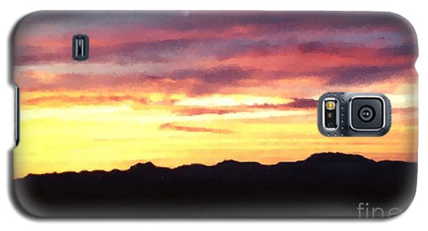 Galaxy S5 Case featuring the photograph Faux Lordsburg New Mexico Sunset by Margaret Newcomb