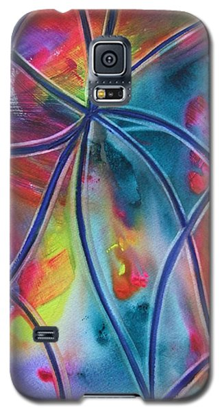 Faux Stained Glass 1 Galaxy S5 Case
