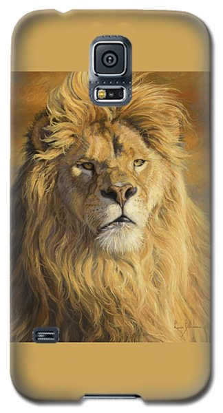 Lion Galaxy S5 Case - Fearless - Detail by Lucie Bilodeau