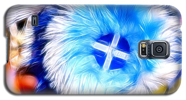 Feather Abstract In Blue 2 Galaxy S5 Case