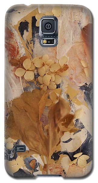 Galaxy S5 Case featuring the mixed media Feather Fantasy by Nancy Kane Chapman