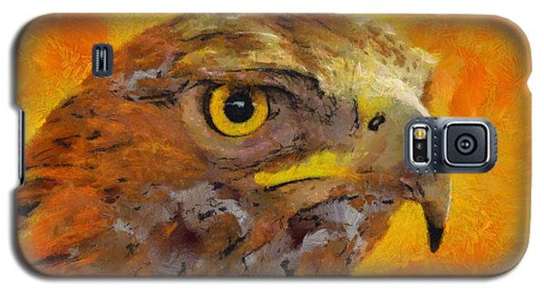 Galaxy S5 Case featuring the painting Feathered Predator by Wayne Pascall