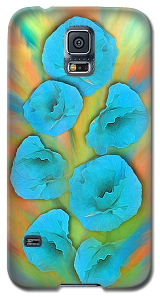 Feathered Turquoise Poppies Galaxy S5 Case