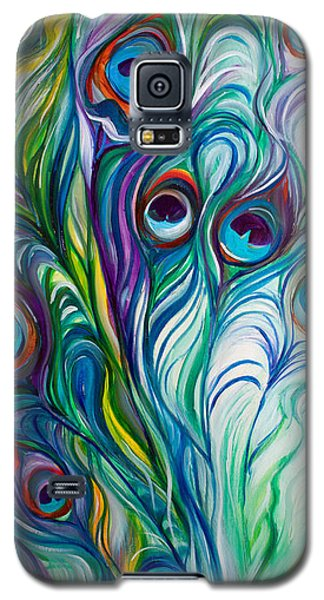 Feathers Peacock Abstract Galaxy S5 Case