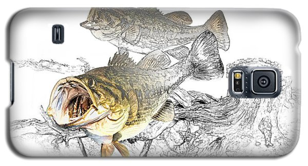Feeding Largemouth Black Bass Galaxy S5 Case by Randall Nyhof